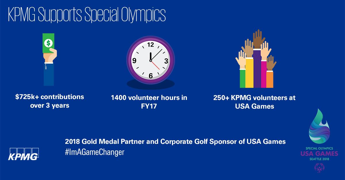 KPMG Supports the 2018 Special Olympics USA Games