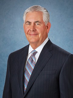 The Honorable Rex W. Tillerson